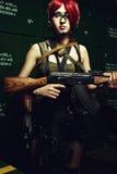 Menina da arma Foto de Stock Royalty Free