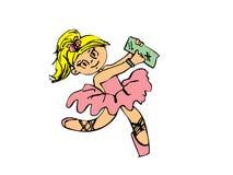 Menina da bailarina no branco Imagens de Stock