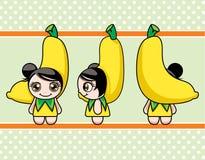 Menina da banana Fotos de Stock Royalty Free