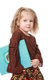 A menina da beleza com o livro Imagem de Stock Royalty Free