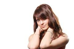 Menina da beleza do retrato Imagens de Stock Royalty Free