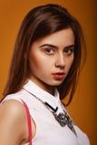 Menina da beleza do retrato Foto de Stock Royalty Free