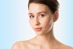 Menina da beleza do retrato dos Close-ups Fotos de Stock