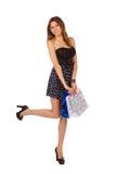 Menina da beleza do retrato no vestido Imagens de Stock