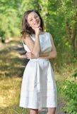 Menina da beleza em um vestido formado fotografia de stock royalty free
