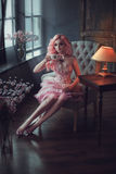 Menina da boneca da porcelana fotos de stock royalty free