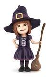 Menina da bruxa ilustração royalty free