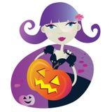 Menina da bruxa de Halloween II ilustração stock