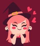 Menina da bruxa no amor Fotos de Stock
