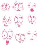 Menina da cara dos desenhos animados ilustração do vetor