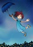Menina da chuva Fotos de Stock Royalty Free