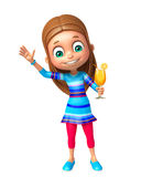 Menina da criança com Juice Glass Foto de Stock