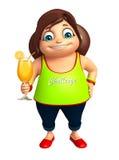 Menina da criança com Juice Glass Imagem de Stock Royalty Free
