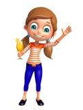 Menina da criança com Juice Glass Fotografia de Stock