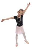 Menina da dança no branco Fotografia de Stock
