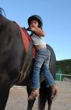 Menina da equitação Imagens de Stock