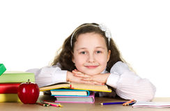 Menina da escola foto de stock royalty free