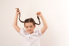 Menina da escola com estilo de cabelo engraçado 3 Fotografia de Stock Royalty Free
