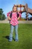 Menina da escola do amanhecer Fotografia de Stock