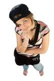 Menina da escola do divertimento Fotografia de Stock