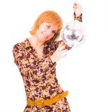 Menina da esfera do disco Imagens de Stock Royalty Free