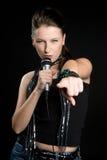 Menina da estrela do rock Imagem de Stock