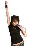 Menina da estrela do rock Fotografia de Stock