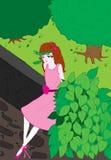 Menina da floresta Fotografia de Stock