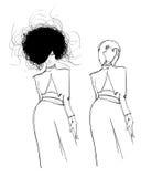 Menina da forma. ilustração stock