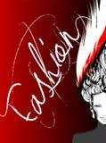 Menina da forma Cara da menina Penteado extravagante hairstyle ilustração do vetor