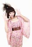 Menina da forma com penteado agradável Imagens de Stock Royalty Free