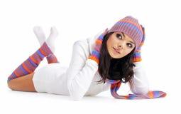 Menina da forma do inverno Imagem de Stock Royalty Free