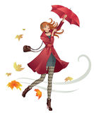 Menina da forma do outono ilustração stock