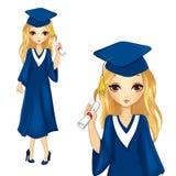 Menina da forma na veste da graduação Ilustração Royalty Free