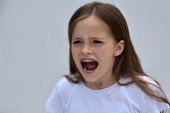 Menina da gritaria Fotografia de Stock