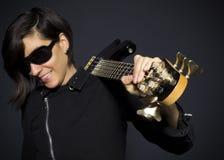 Menina da guitarra Foto de Stock Royalty Free