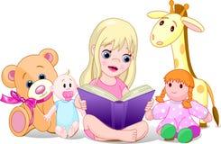 Menina da leitura ilustração do vetor