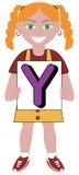 Menina da letra Y Imagem de Stock