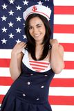 Menina da marinha Fotografia de Stock Royalty Free
