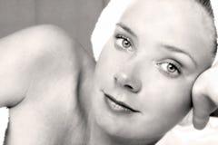 Menina da massagem Imagem de Stock