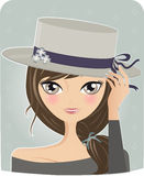 Menina da mola ilustração royalty free