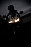 Menina da motocicleta fotos de stock royalty free