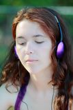 Menina da música Foto de Stock Royalty Free