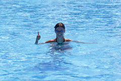 Menina da nadada imagem de stock royalty free