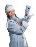 Menina da neve imagens de stock royalty free