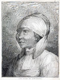 Menina da península de Kamchatka em Rússia - cozinheiro Voyage dos capitães 1776 -1779 Fotos de Stock Royalty Free