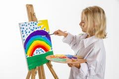 Menina da pintura Imagem de Stock