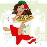 Menina da pizza Foto de Stock Royalty Free