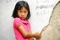 Menina da pobreza Fotos de Stock Royalty Free