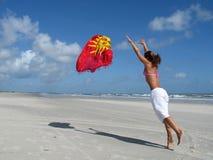 Menina da praia imagens de stock royalty free